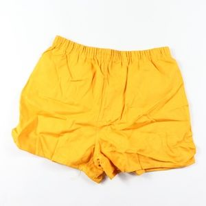 70s New West Point Mens Cotton Gym Shorts Yellow